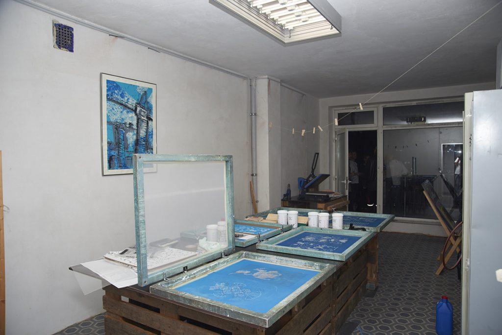 Siebdruck-Werkstatt